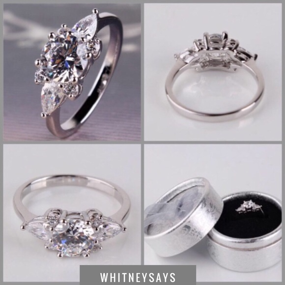 b034adf8a Engagement Jewelry | New 18k White Gold Filled Ring Size 5 | Poshmark